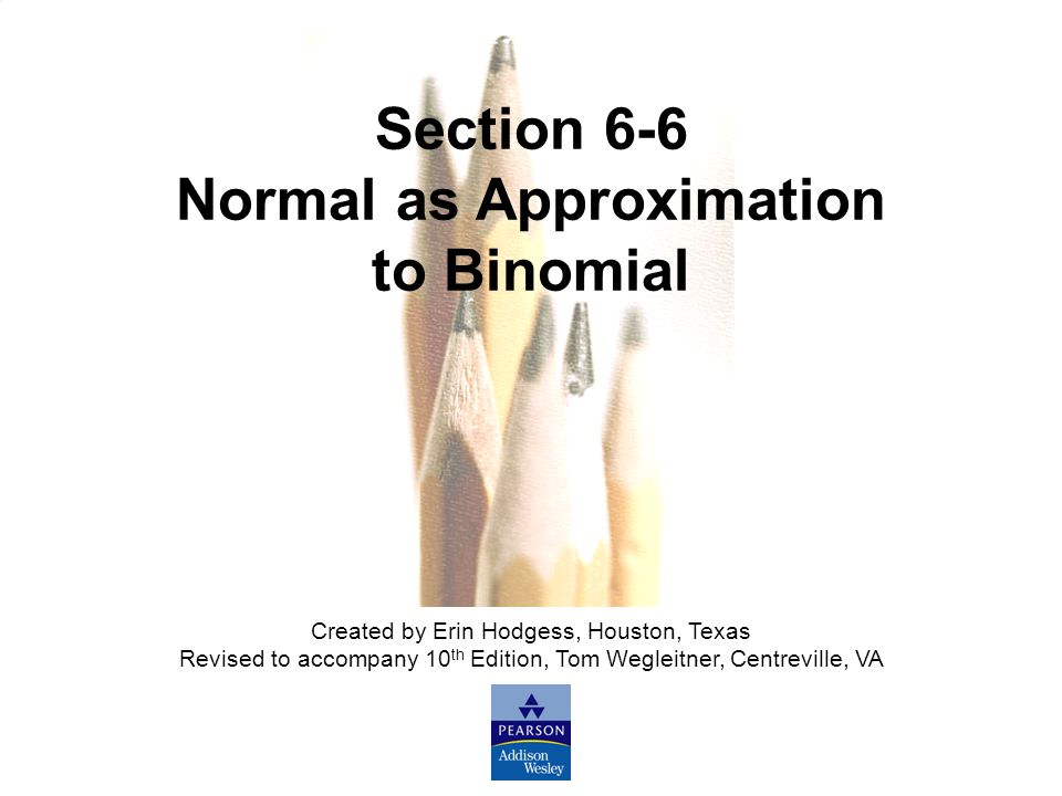 Normal as Approximation to Binomial