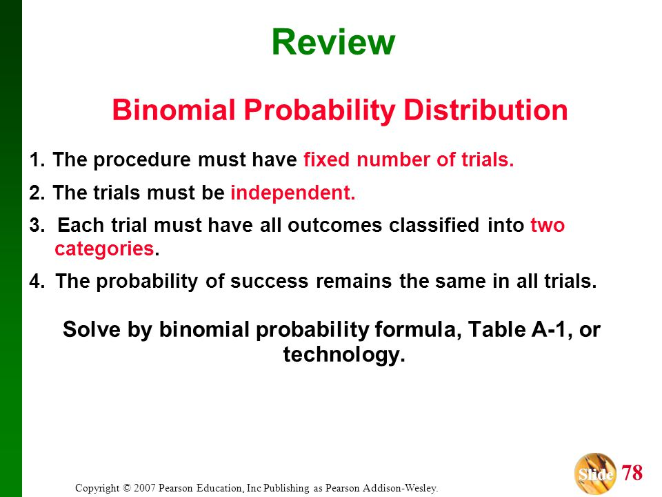 Review Binomial Probability Distribution