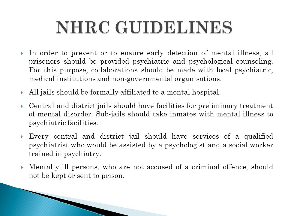 NHRC GUIDELINES