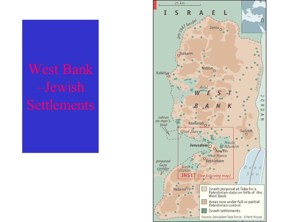 West Bank –Jewish Settlements