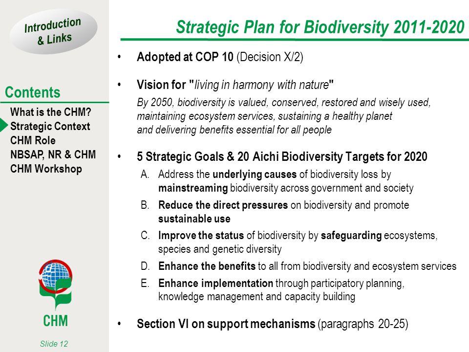 Strategic Plan for Biodiversity 2011-2020