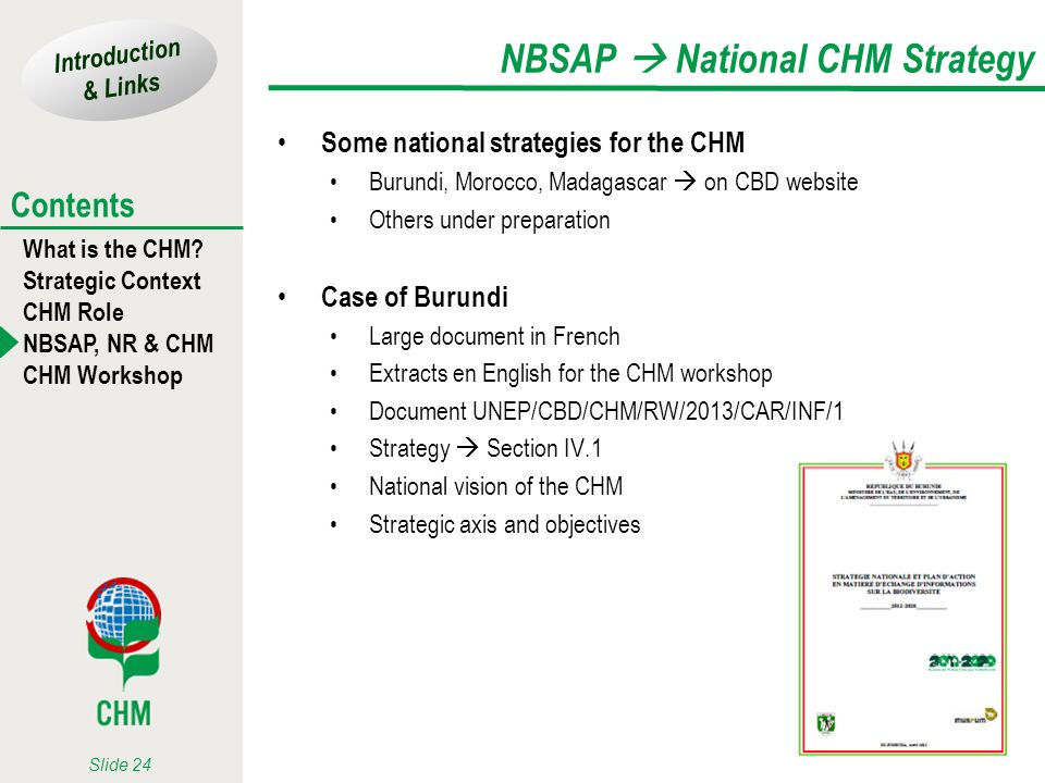 NBSAP  National CHM Strategy