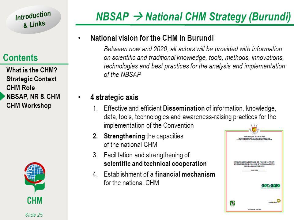 NBSAP  National CHM Strategy (Burundi)