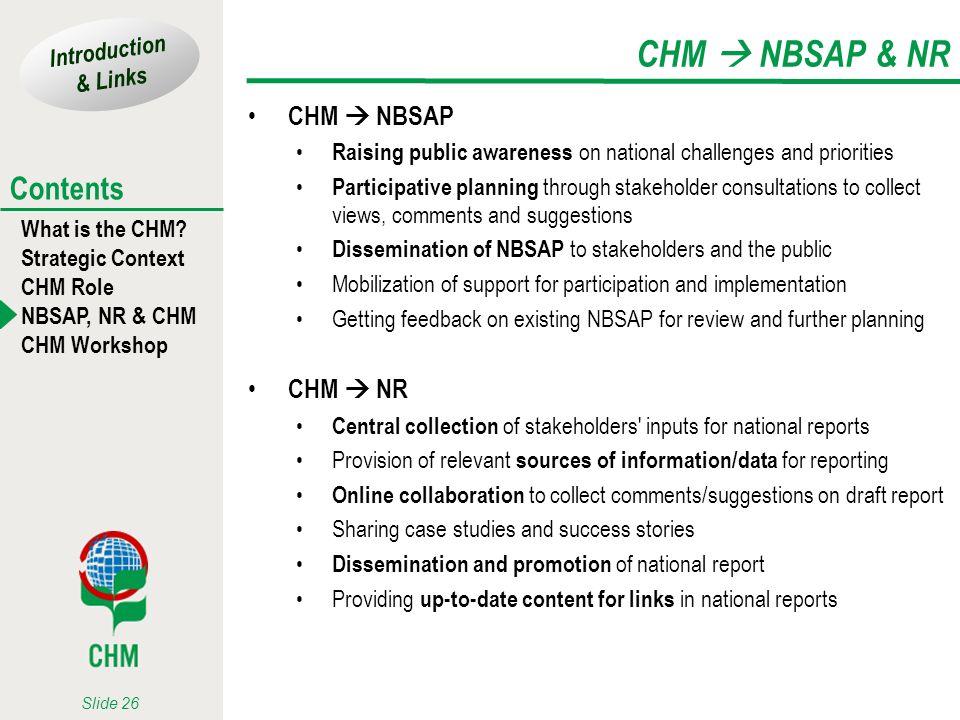 CHM  NBSAP & NR CHM  NBSAP CHM  NR