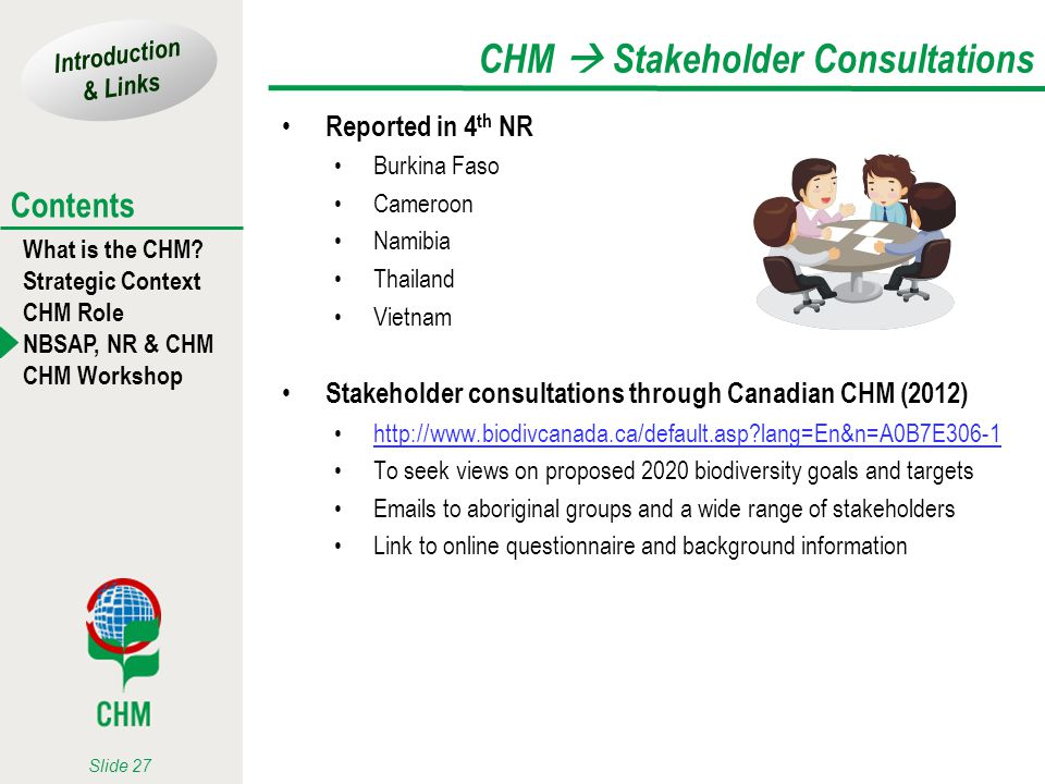 CHM  Stakeholder Consultations