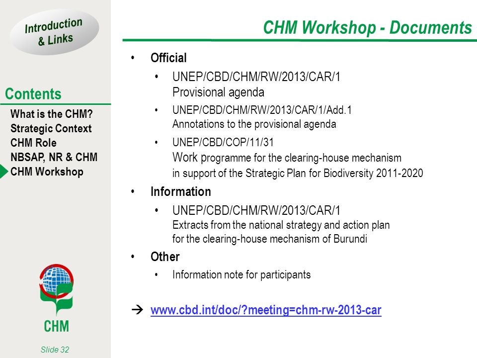 CHM Workshop - Documents