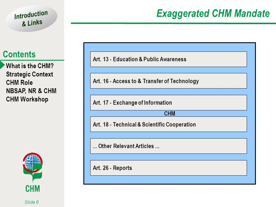 Exaggerated CHM Mandate
