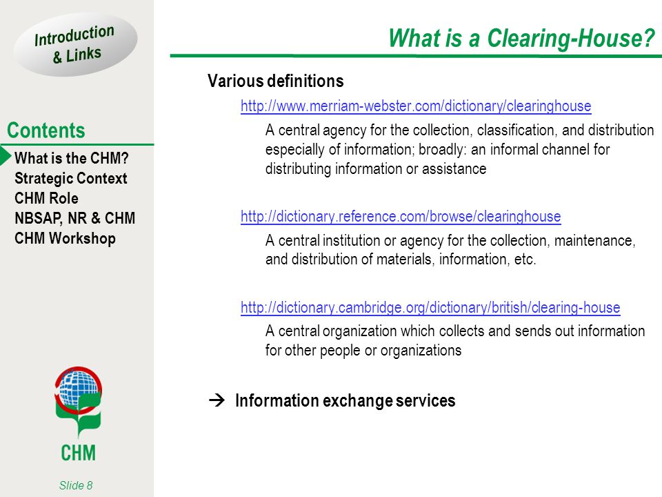 What is a Clearing-House