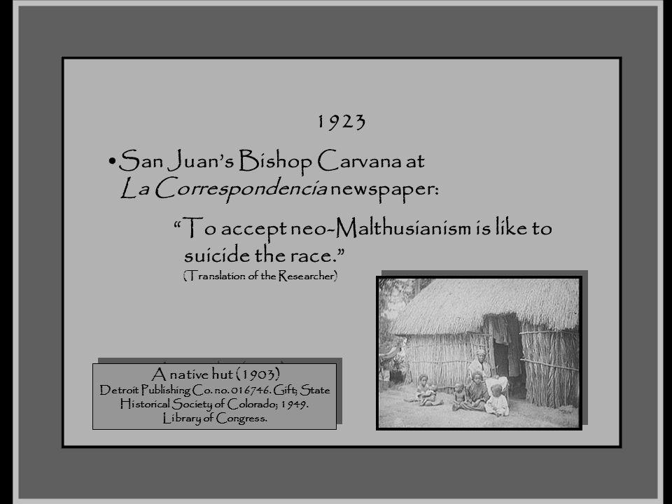 San Juan's Bishop Carvana at La Correspondencia newspaper:
