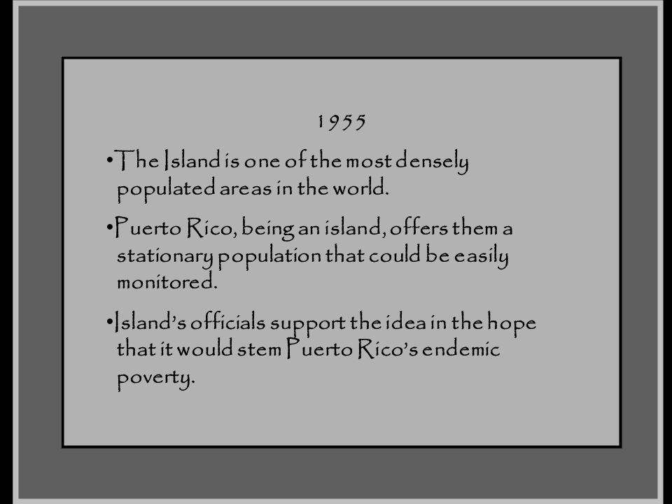 The Island is one of the most densely populated areas in the world.