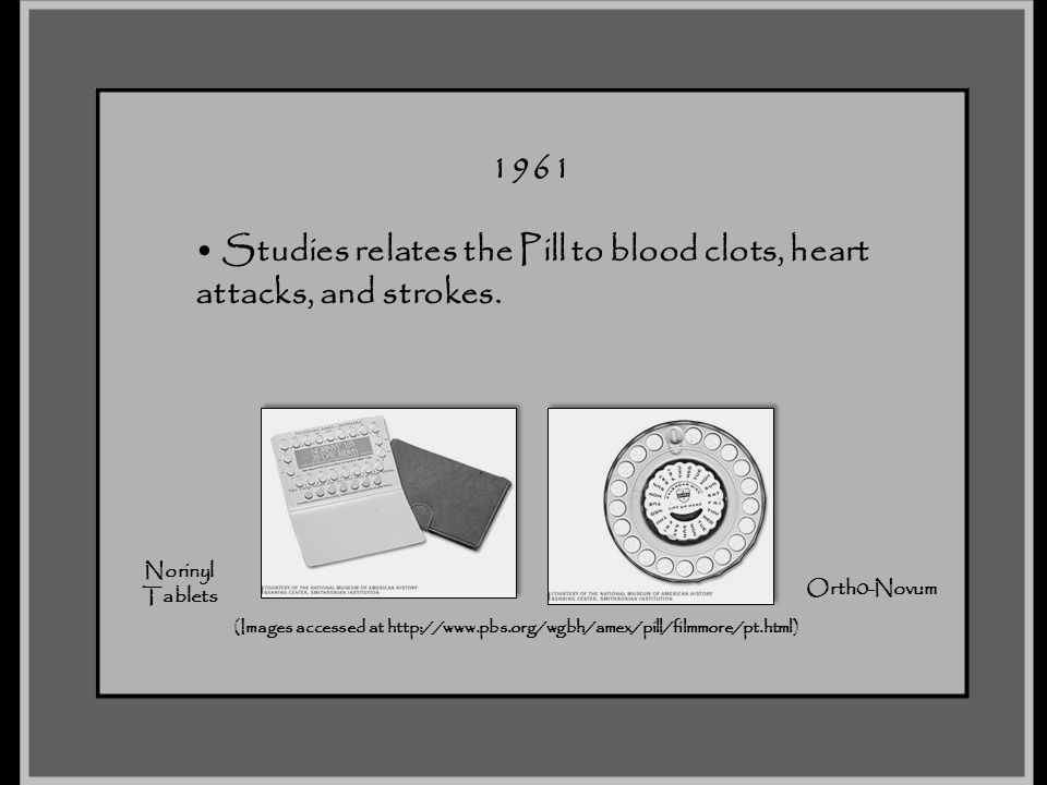 Studies relates the Pill to blood clots, heart