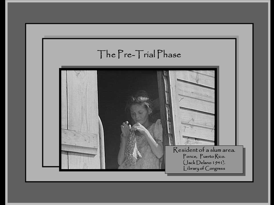 The Taste of the Pill November 2007. The Pre-Trial Phase.