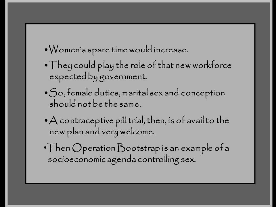 Women's spare time would increase.