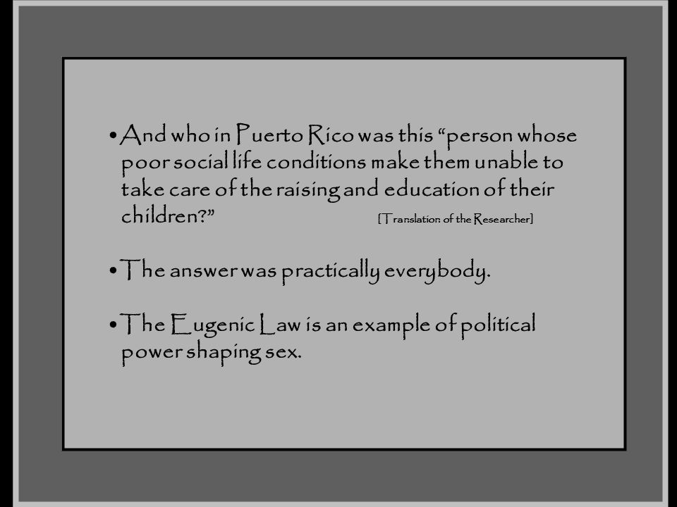 And who in Puerto Rico was this person whose