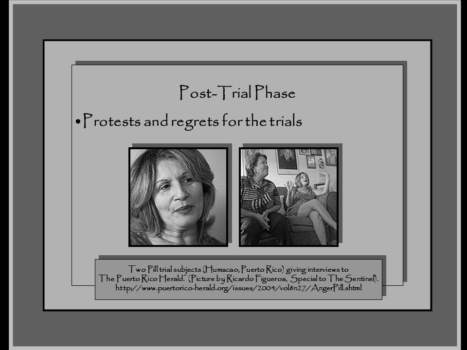 Protests and regrets for the trials