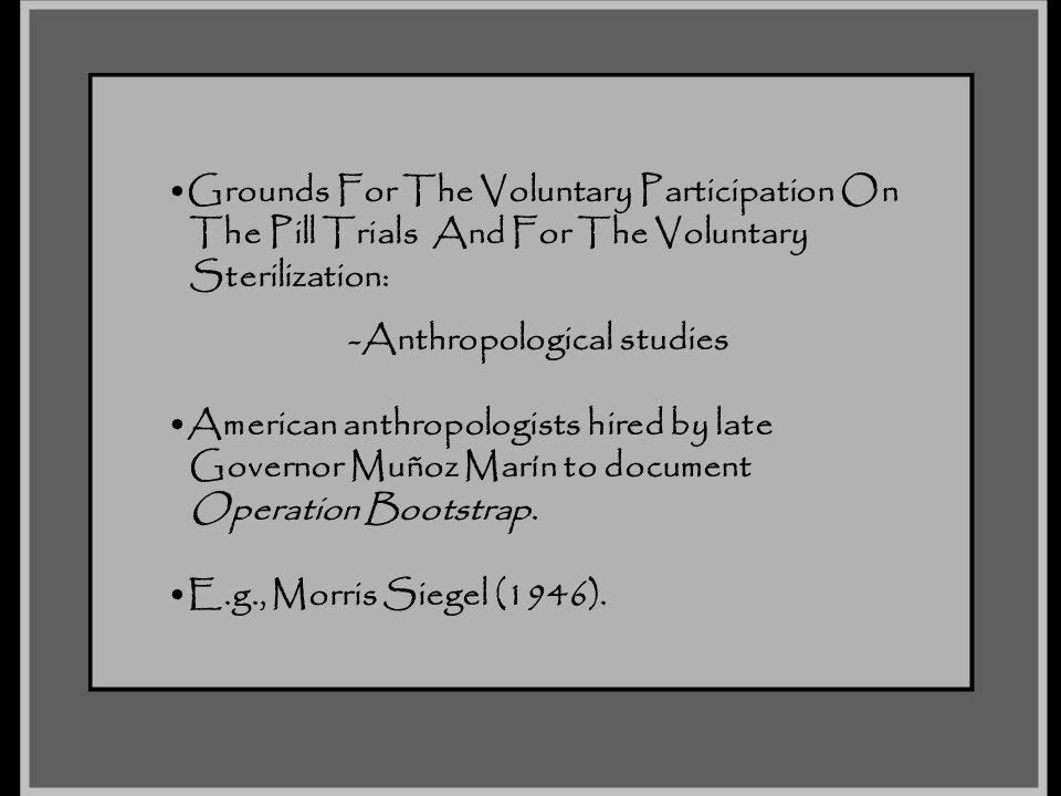 -Anthropological studies