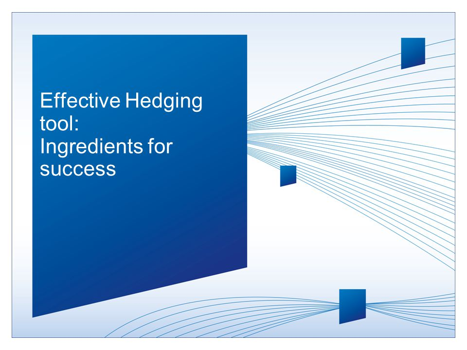 Effective Hedging tool: Ingredients for success