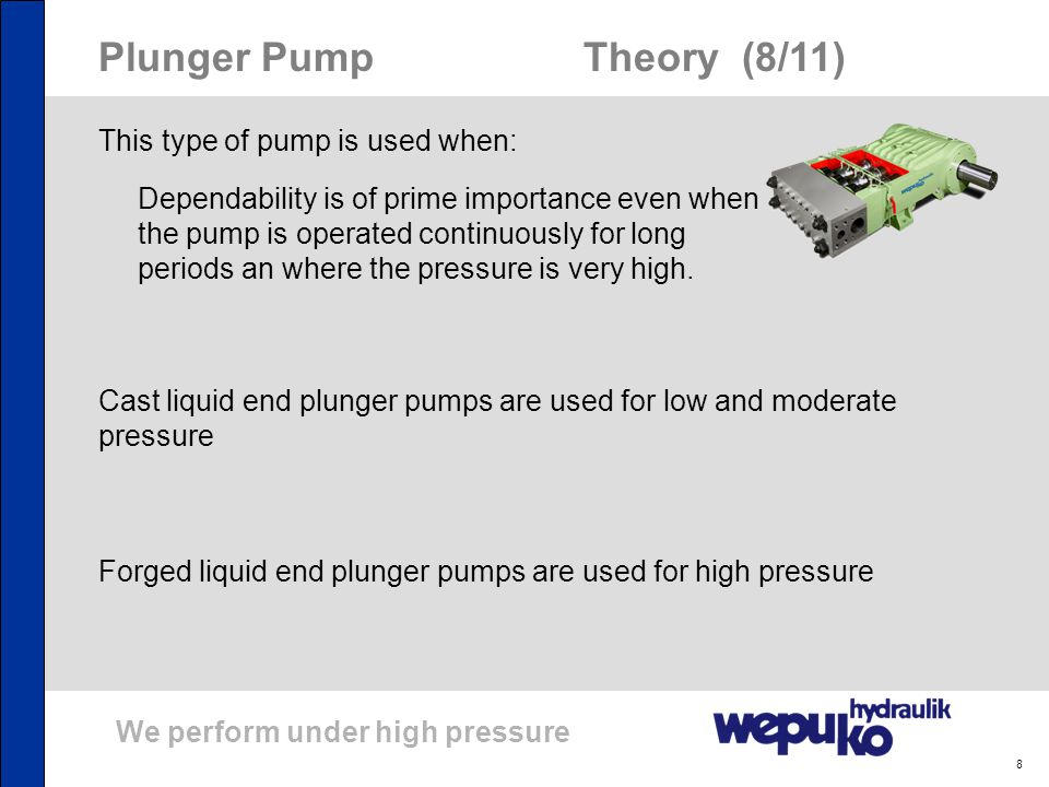 Plunger Pump Theory (8/11)