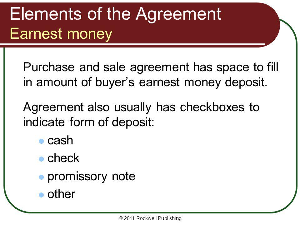 Earnest Money Deposit Agreement Template