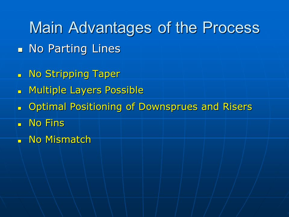 Main Advantages of the Process
