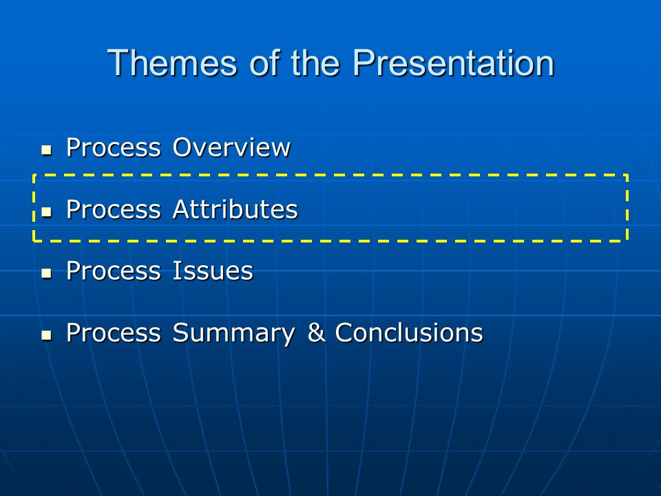 Themes of the Presentation