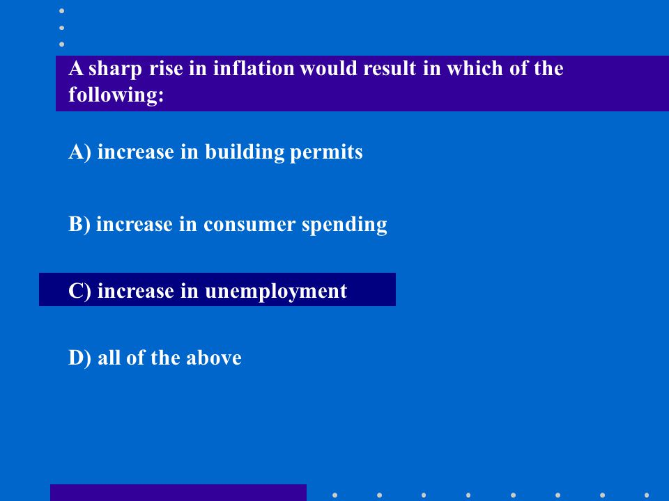 A sharp rise in inflation would result in which of the following:
