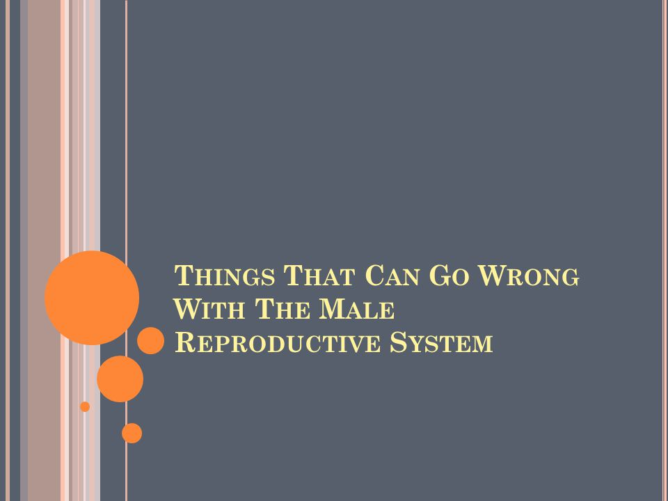 Things That Can Go Wrong With The Male Reproductive System