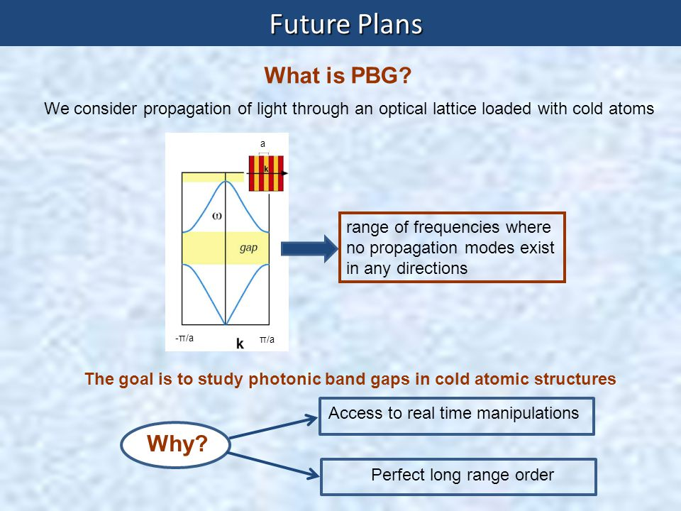 Future Plans What is PBG Why