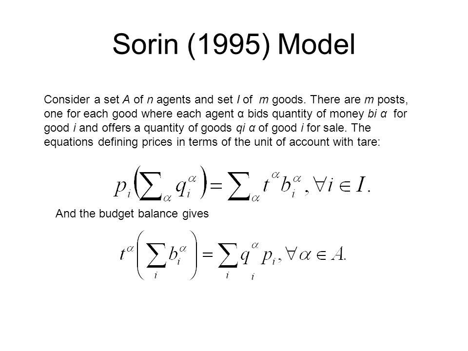 Sorin (1995) Model