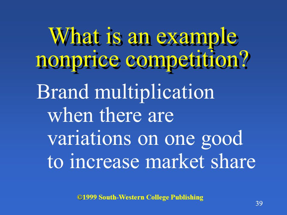 What is an example nonprice competition