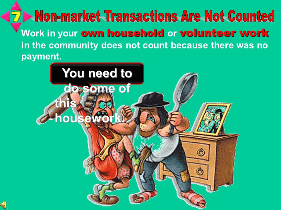 Non-market Transactions Are Not Counted