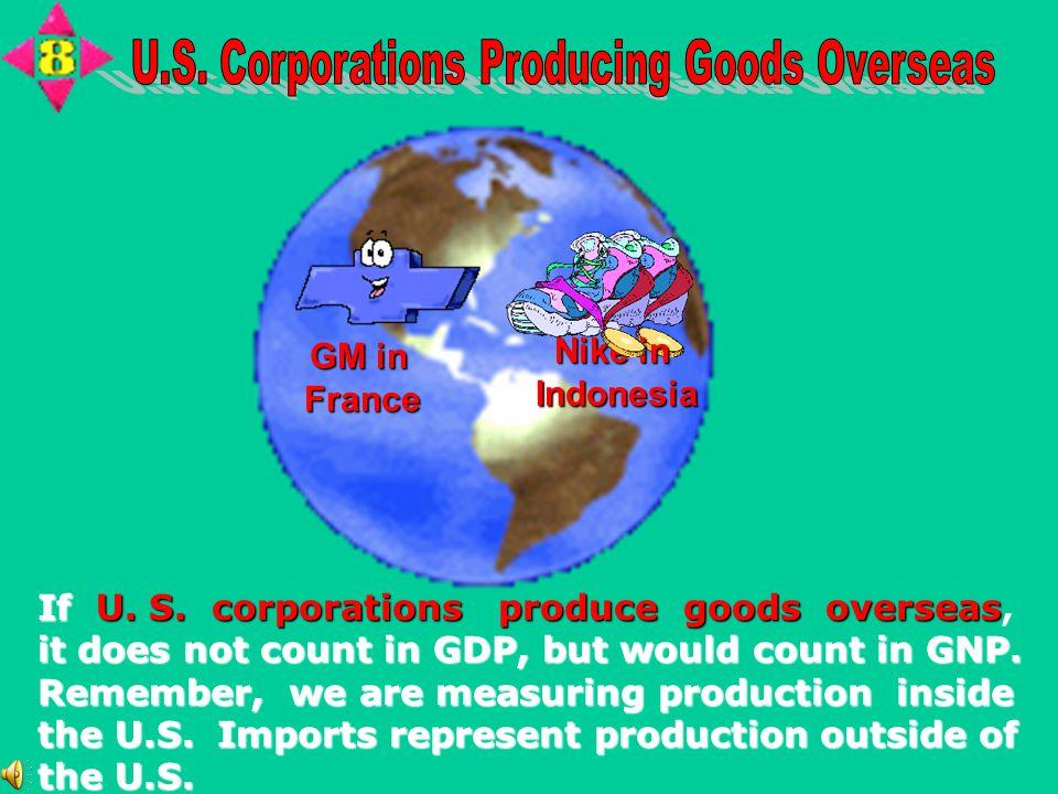 U.S. Corporations Producing Goods Overseas