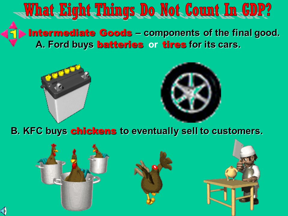 What Eight Things Do Not Count In GDP