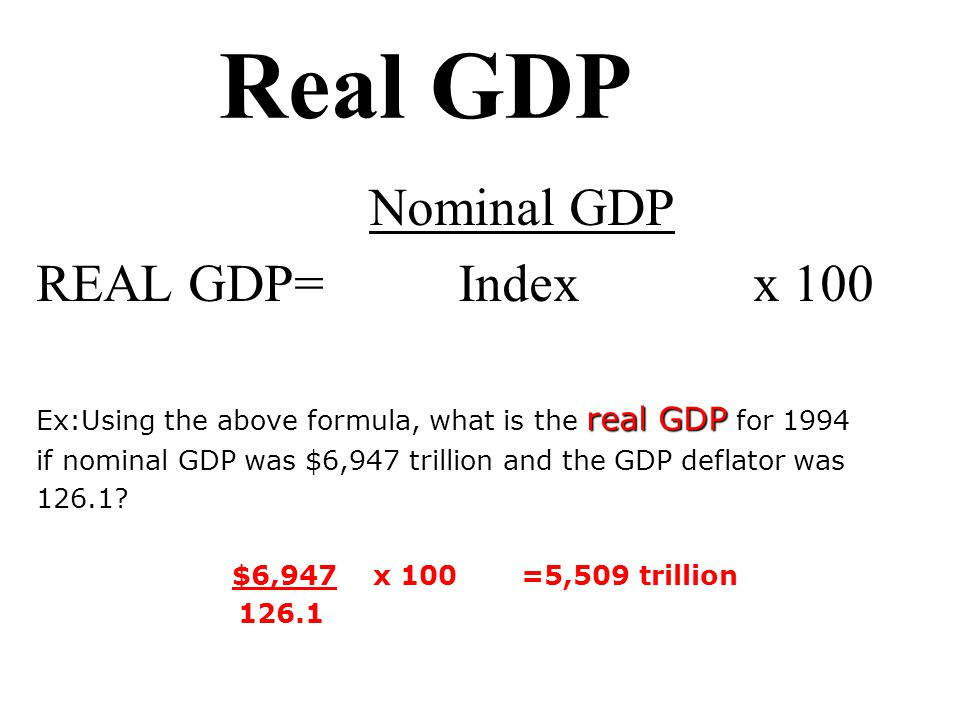 real gdp What's the difference between nominal gdp and real gdp real gdp offers a  better perspective than nominal gdp when tracking economic output over a.