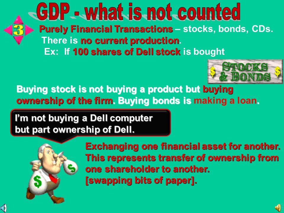 GDP - what is not counted