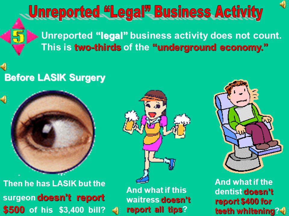 Unreported Legal Business Activity