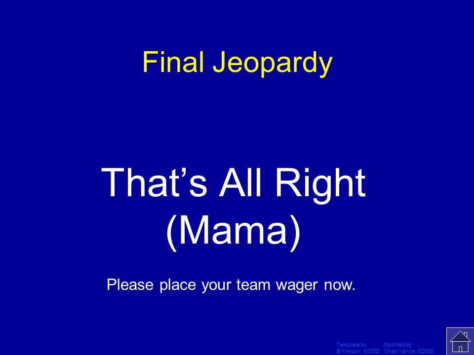That's All Right (Mama)