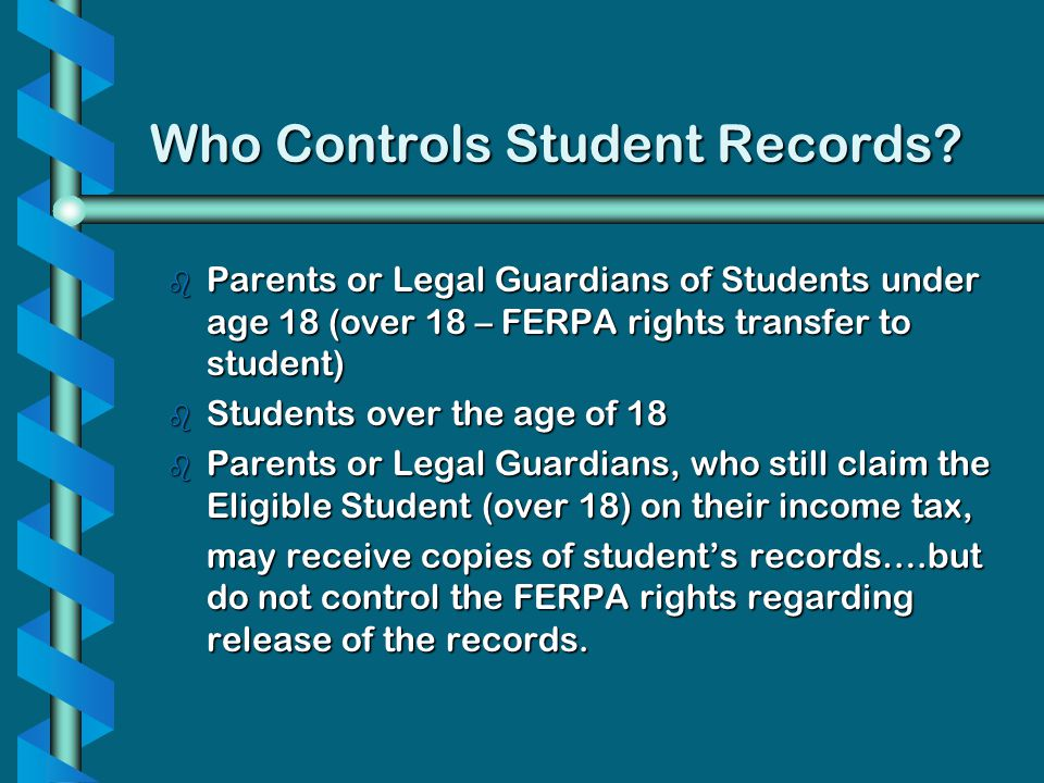 Who Controls Student Records