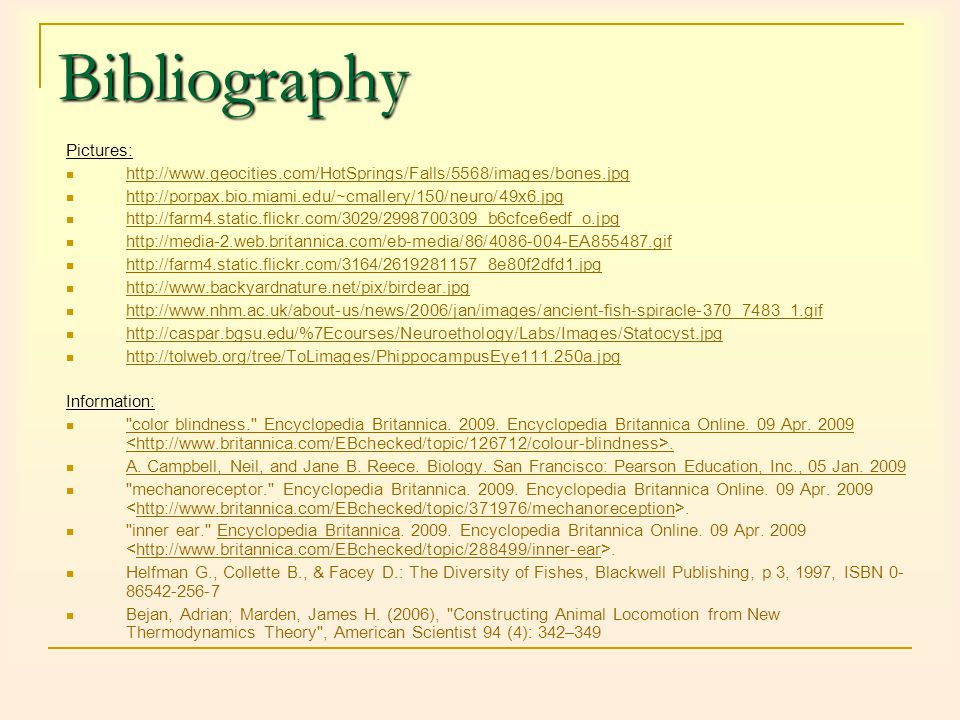 Bibliography Pictures: