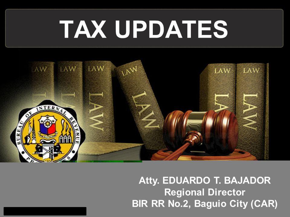 Regional Director BIR RR No.2, Baguio City (CAR)