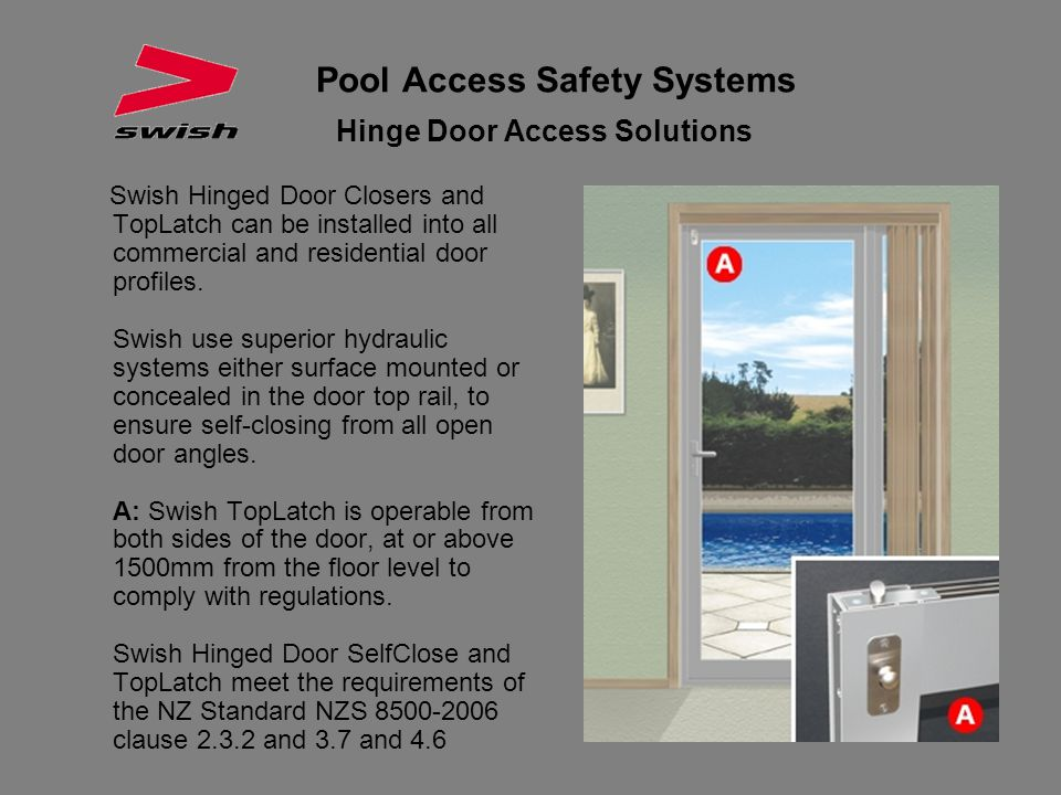 Pool Access Safety Systems Hinge Door Access Solutions