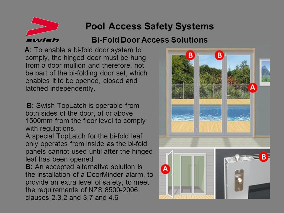 Pool Access Safety Systems Bi-Fold Door Access Solutions