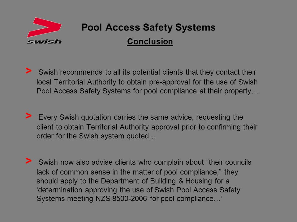 Pool Access Safety Systems Conclusion