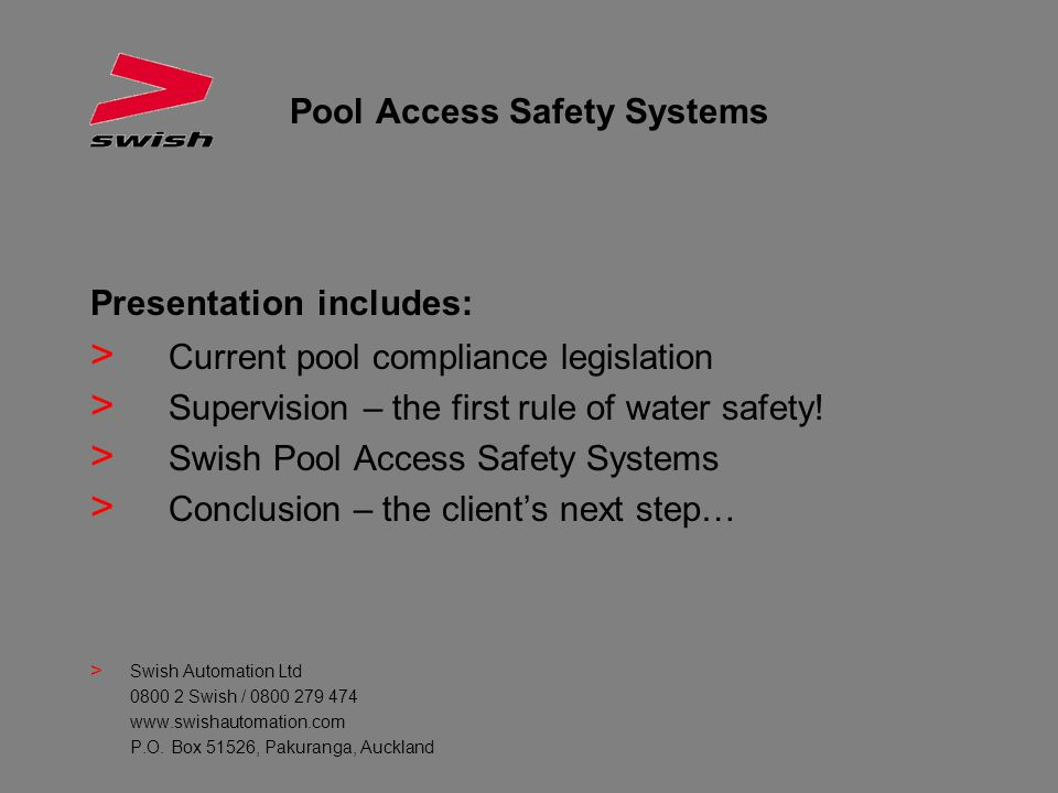 Pool Access Safety Systems