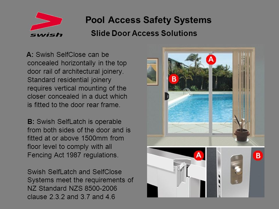 Pool Access Safety Systems Slide Door Access Solutions