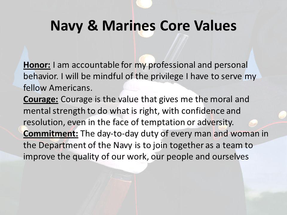 Navy & Marines Core Values
