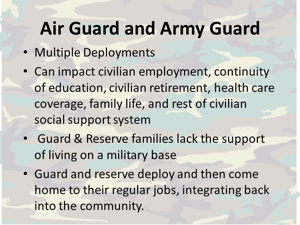 Air Guard and Army Guard