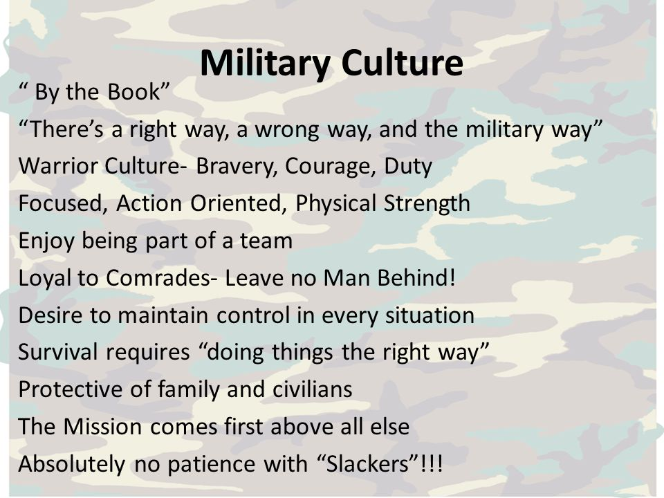 Military Culture By the Book