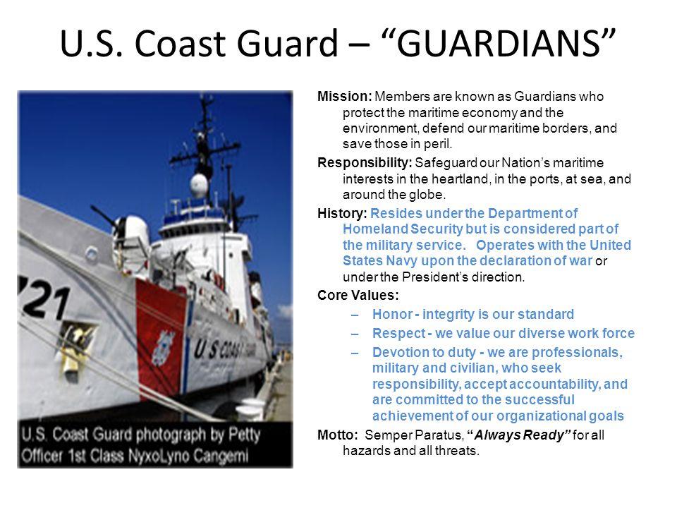 U.S. Coast Guard – GUARDIANS