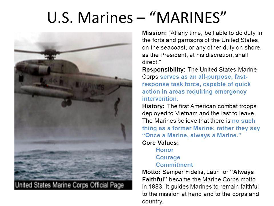 U.S. Marines – MARINES